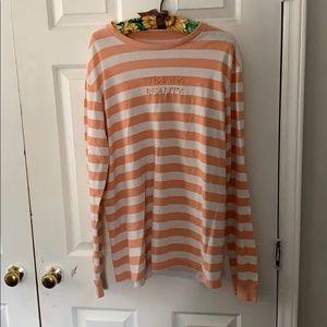 Strange Reality Embroidered Stripe Long Sleeve